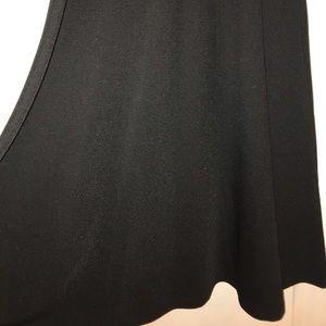 White Mark Skirts - Black Knit Flared Skirt